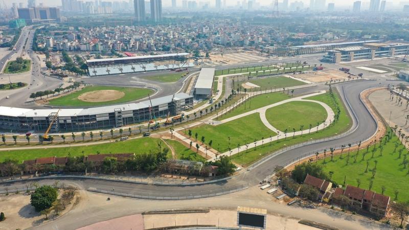Hoàn thành đường đua F1 tại Hà Nội sau gần 1 năm thi công