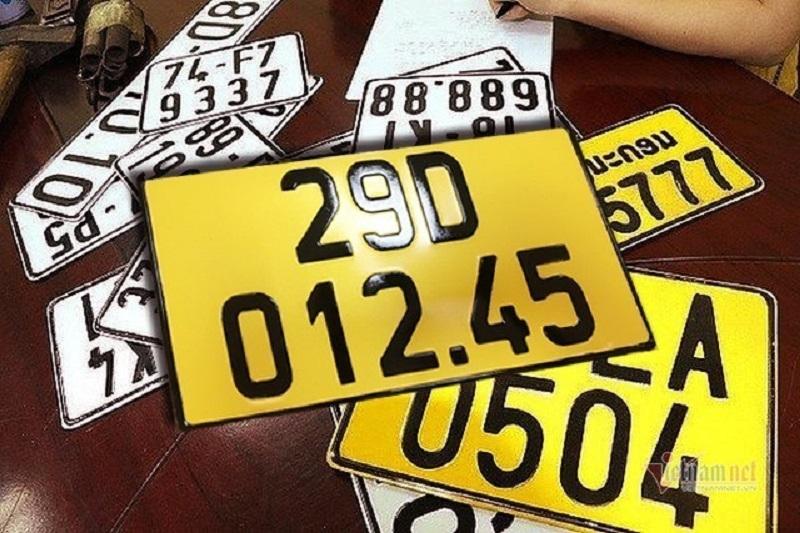 Đề nghị giảm 50% phí đổi biển số xe sang màu vàng
