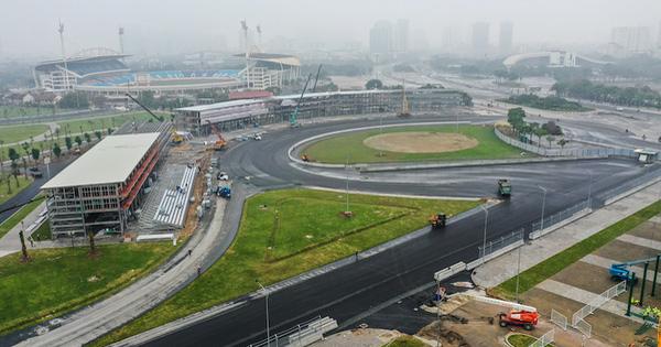 Đường đua F1 Hà Nội đã hoàn thành nhiều hạng mục, chuẩn bị đón những tay đua hàng đầu thế giới