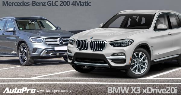 Mercedes-Benz GLC 200 4Matic vs BMW X3 xDrive20i: Chọn xe nào với giá chênh gần nửa tỷ đồng?