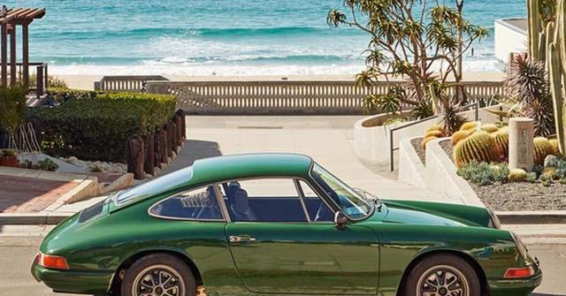 """Xe điện Tesla Model S P85 """"lột xác"""" thành xe thể thao Porsche 911 đời 1968"""