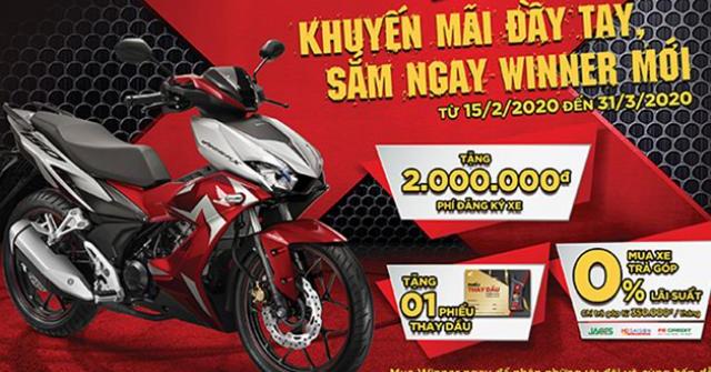 Honda Việt Nam ưu đãi lớn cho khách hàng mua xe WINNER & WINNER X