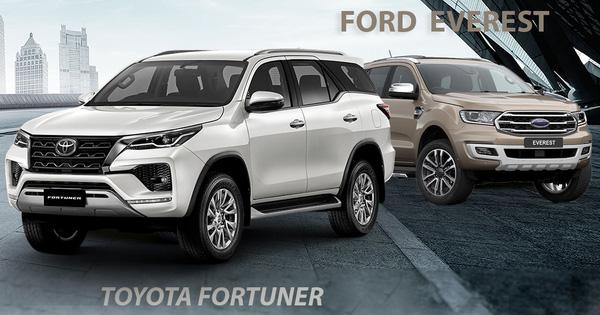 Chọn Toyota Fortuner 2021 hay Ford Everest 2020: Bộ đôi SUV
