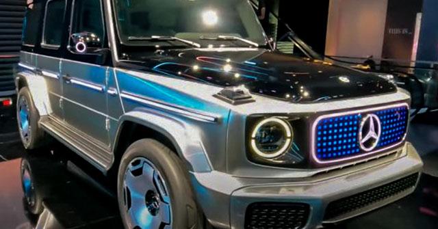 Xe điện Mercedes-BenZ EQG lộ diện hoàn toàn