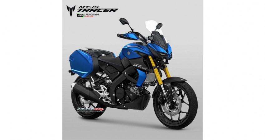 Lộ diện hình ảnh phiên bản phượt của Yamaha MT-15 khá ấn tượng