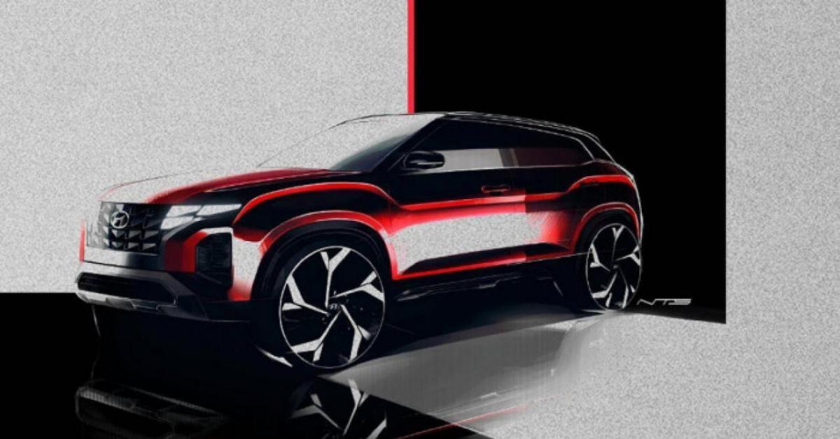 Lộ diện Hyundai Creta 2022 lấy cảm hứng từ Hyundai Tucson