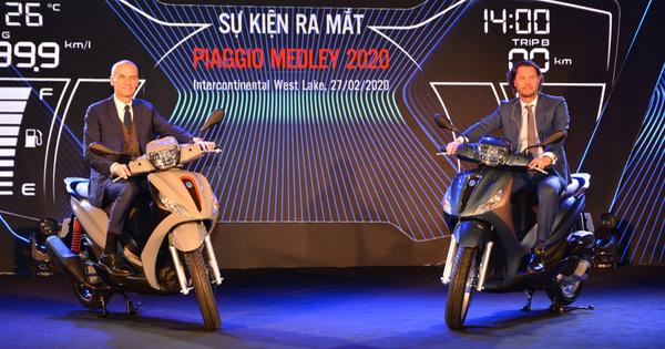 Ra mắt Piaggio Medley 2020 - Đấu Honda SH bằng giá bán từ 75 triệu đồng