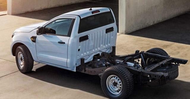 Ford Ranger có thêm bản không thùng sau tại châu Âu