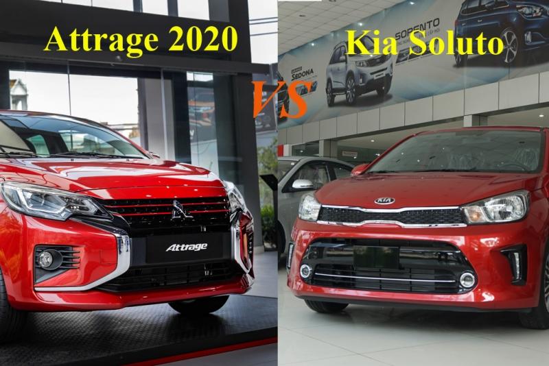 So sánh Mitsubishi Attrage 2020 với Kia Soluto